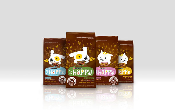 Be Happy byPurina The Dieline #packaging