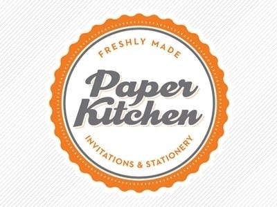 Dribbble - Paper Kitchen Logo by Roni Lagin #logo #invitations #paper #vintage