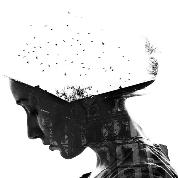 CJWHO ™ (Germany by Aneta Ivanova Double exposure...) #white #black #landscape #portrait #photography #art #and