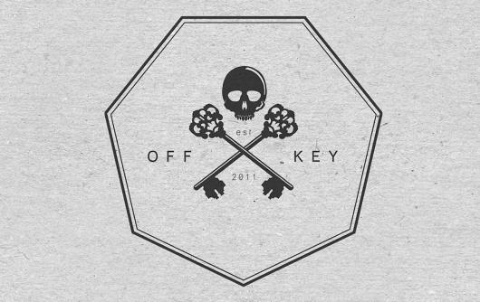 A is for Alias » Off Key Clothing – Brandmark #branding #cross #logo #skull #keys