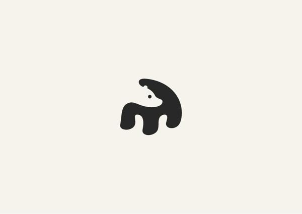 this isn't happiness™ (Negative Space), Peteski #sign #negative #picto #logo #bear