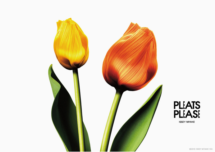 pleats please flowers by taku satoh #print #poster #ad #flower #layout