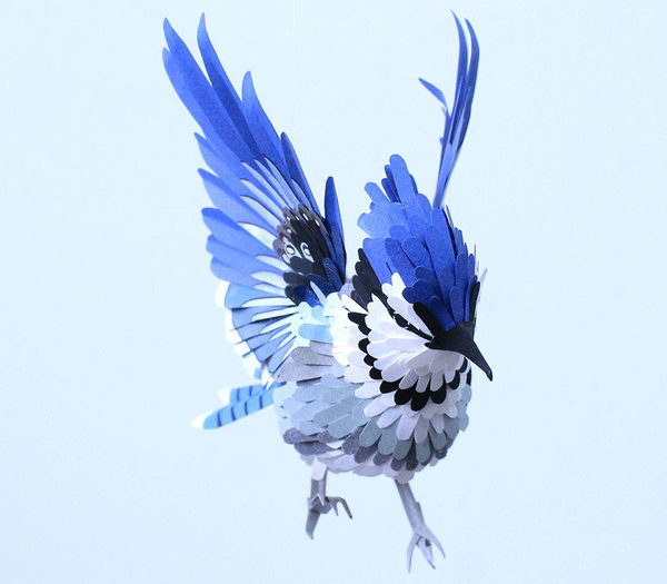 Paper bird sculptures by Diana Beltran Herrera #sculpture #paper #art #bird
