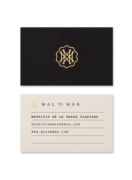 kentson:Business card (Mal de Mar) #design #graphic