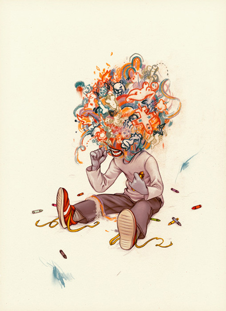 james jean 08.jpg (JPEG Image, 450×619 pixels) #child #jamesjean