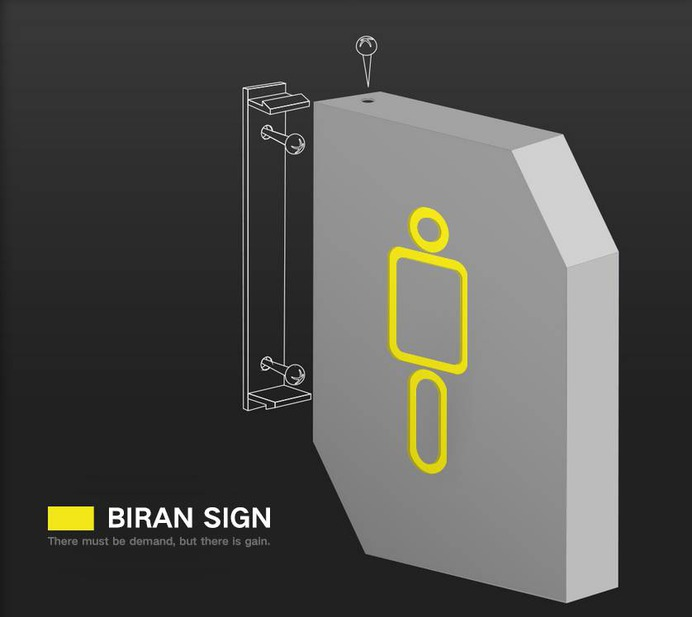 Signage | Sign Design | Wayfinding | Wayfinding signage | Signage design | Wayfinding Design | 商业简约几何图形网吧卫生间标识标志牌