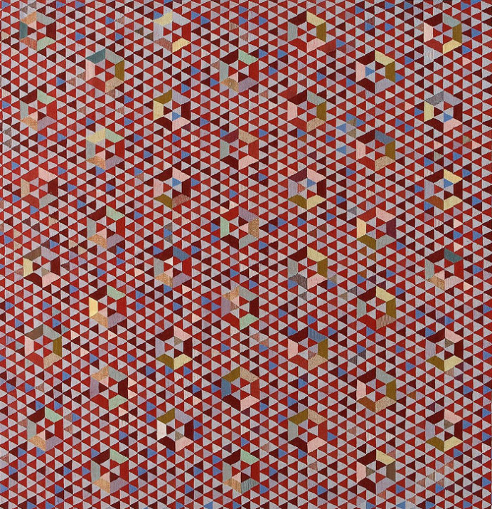 Geometric Pattern Rugs and Poufs by Golran - #textile, #design, #fabrics, #patterns