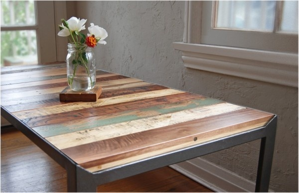 reclaimed wood table #reclaimed #office #wood #desk #table