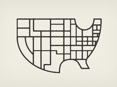 state of the state #usa #geometric #map