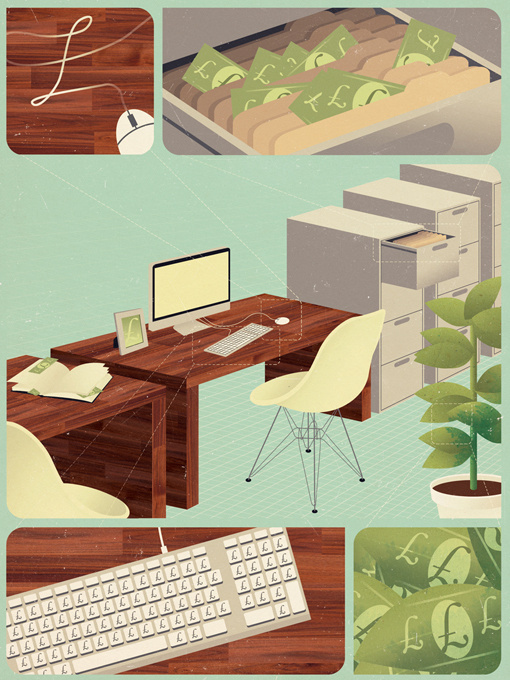 Jack Hughes Illustration #illustration #office #items