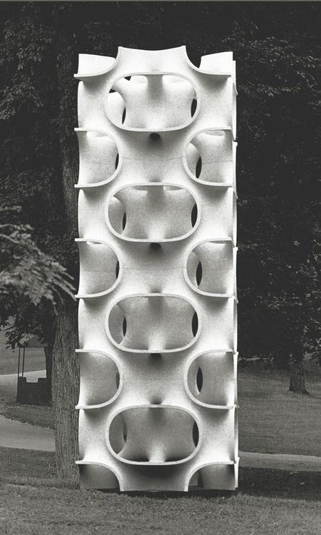 Erwin Hauer #geometry #sculpture #architecture #pattern