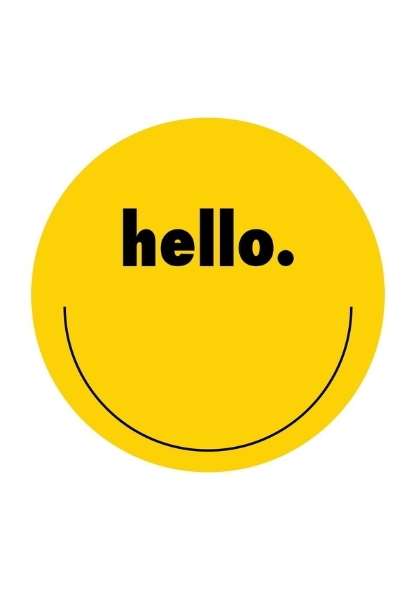 A2 Typography Posters on the Behance Network #creative #norway #design #graphic #smiley #poster #hello #typography