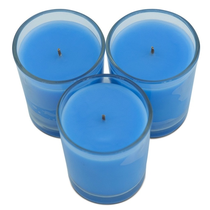 Trio Pack Lotus Flower & Topaz Water Scented Candle