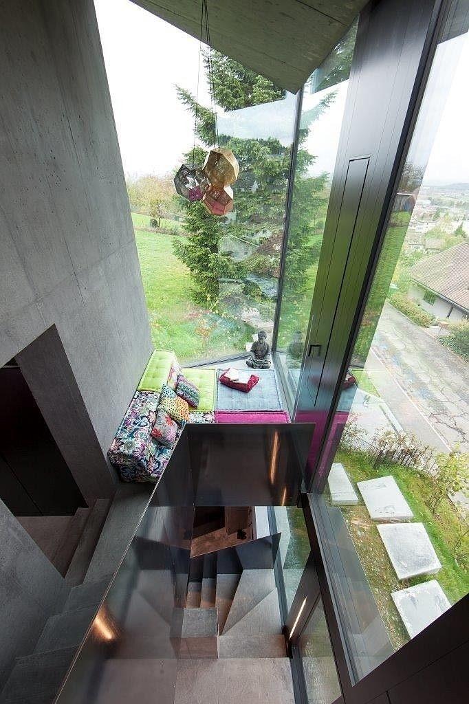 Trubel House by L3P Architekten successful architectural solution for difficult terrain - www.homeworlddesign. com (8) #architecture #interi