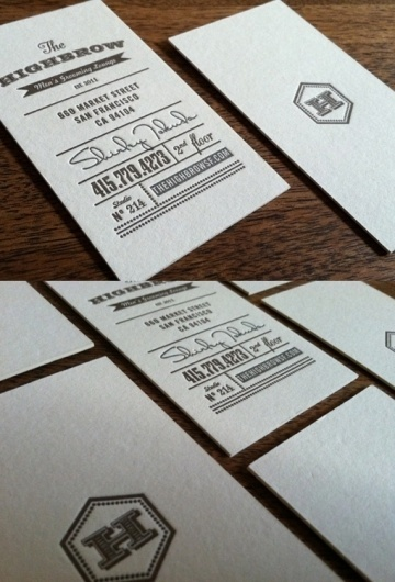 The Highbrow   Business Cards Observer #print #cards #business #typography