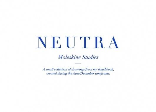 NEUTRA (Moleskine Studies). on Illustration Served #typography