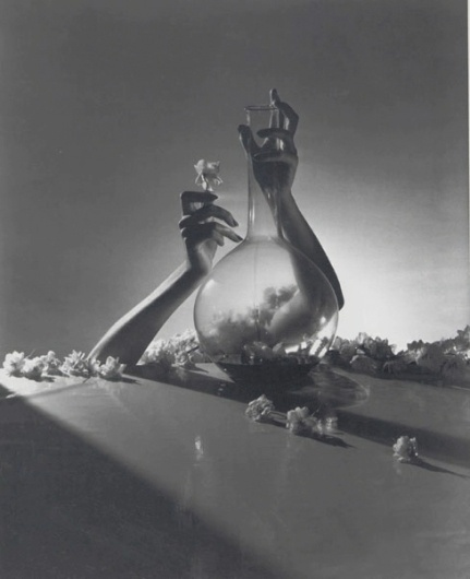 Horst P Horst | Lisa, Hands with Vase and Flowers #photography
