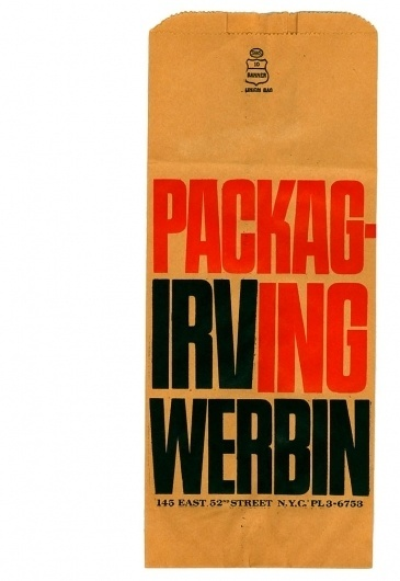 Container List: Brown bag #packaging #typography