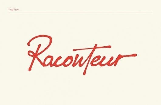 Typography / Raconteur #brand #identity #typography
