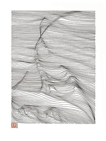 FFFFOUND! | LINESCAPING INK DRAWING on the Behance Network #drawing