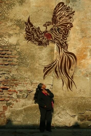 más que el cóndor y águila real | Flickr - Photo Sharing! #people #bird #graffitti #illustration #fly #street #quetzal