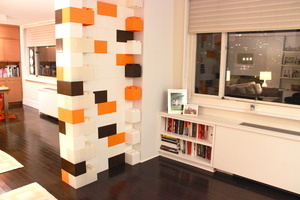 Architectural feature wall built from EverBlock. #dividerwall #architecturalwall #featurewall #blocks #modular #portable #diy