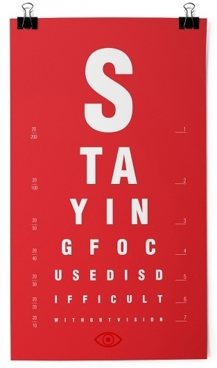 Staying Focused #motivation #red #eye #typography