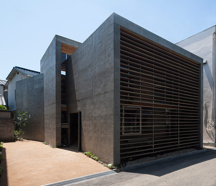 UID architects constructs concrete-shelled shrimp residence #home
