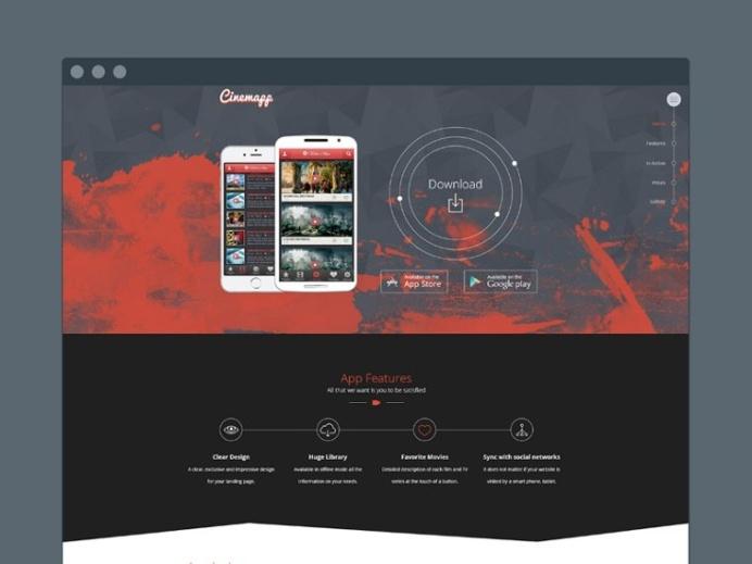 Cinemapp : Mobile App Landing Page Template