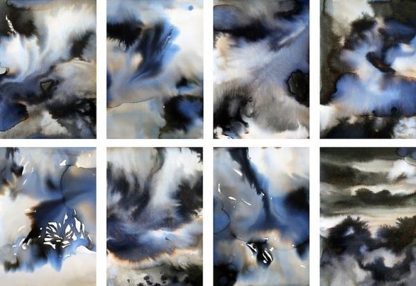 Saatchi Online Artist: Dedicación Garcia; Pen and Ink, 2012, Drawing #abstract #ink #marble #art