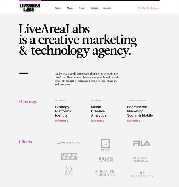 LiveAreaLabs Kyle Gabouer Design #web