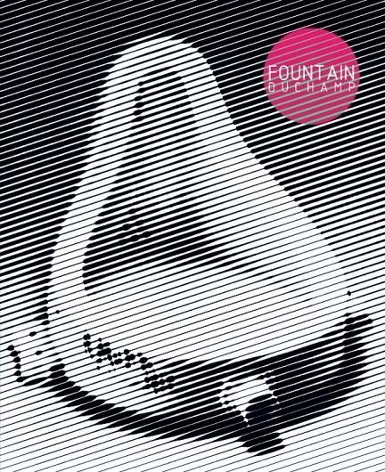 FOUNTAIN DUCHAMP #halftone #visual #design #fountain #duchamp #poster #art