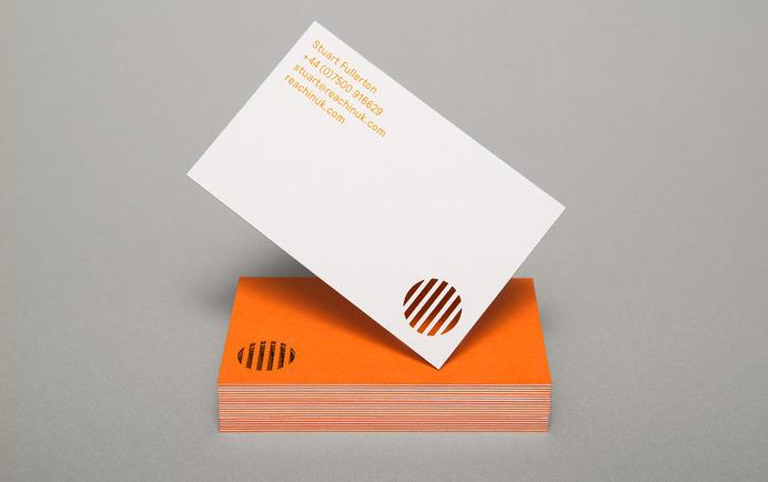 Reachin' – Designed by Karoshi #die #cut #business #card #print #orange