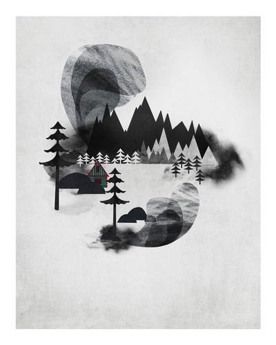 Villages I by Adam Hancher - Adam Hancher - Gallery #illustration #white #black #and