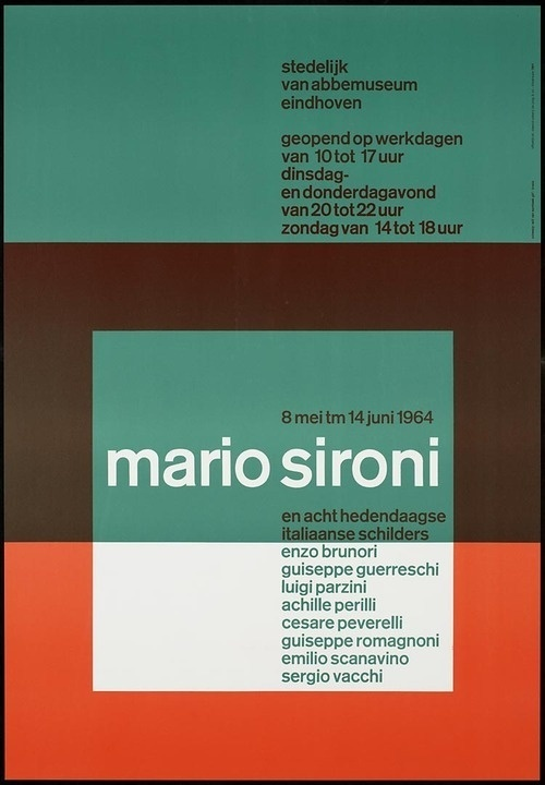 mindthat:Will Van Sambeek: City of London abbemuseum Mario Sironi and eight contemporary Italian painters #classic #poster