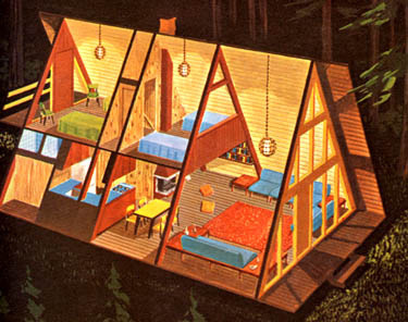 a frame house from the 1960s #frame #architecture #house