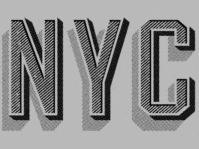 Dribbble - NYC shirt by Two Arms Inc. #type #lettering #nyc