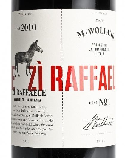 M. Wolland Zi Raffaele #packaging #heydays #wine #mwolland