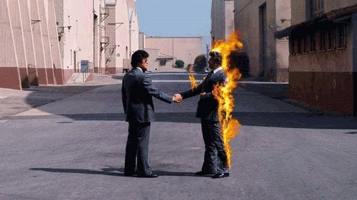 Just because I'm crazy doesn't mean I'm wrong | At work animating album covers! #pink #floyd #fire