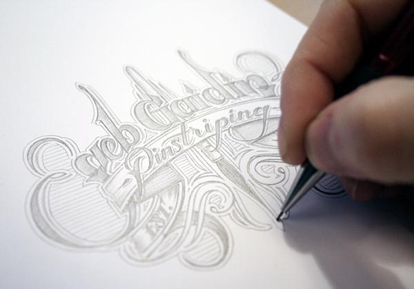 Hand drawn typography by Seb Gaidin #drawn #hand #typography