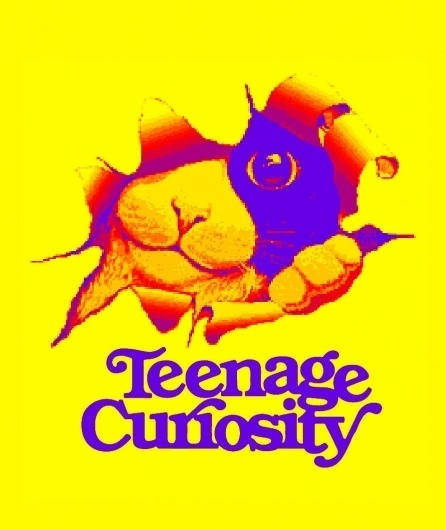 Teenage Curiosity #kitten #curiosity #cat #glyph #illustration #blog #logo #teenage #typography
