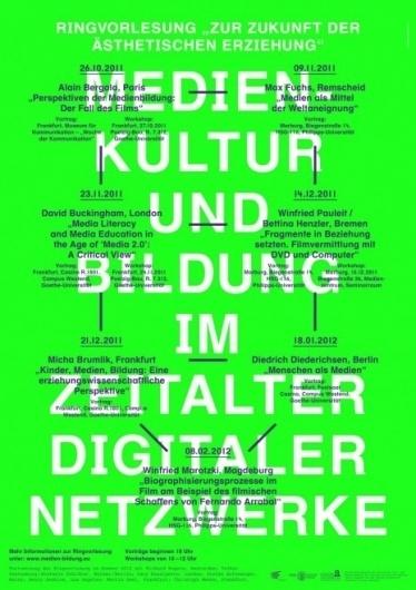 """Poster – Ringvorlesung """"zur Zukunft der ästhetischen Erziehung""""   Alexander Lis #fluoro #poster #typography"""