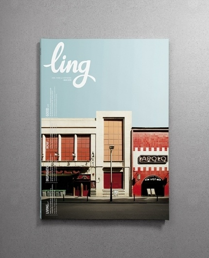 LING on the Behance Network #flight #magazine #in #print #brochure #typography