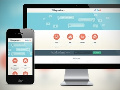 Responsive landing page #responsive #ui #iphone #mobile #web