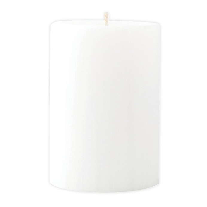 Marbled Pillar Fresh Cotton & Lavender Scented Candle, 10cm x 7 cm