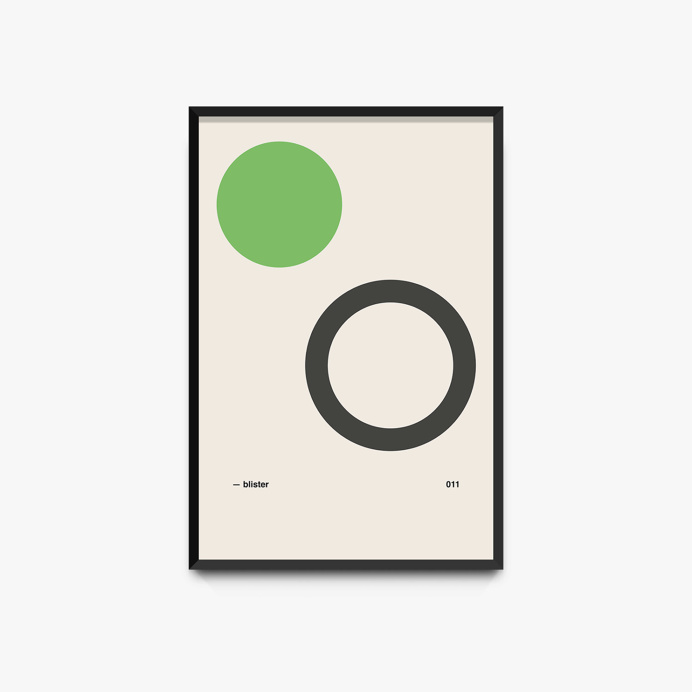 minimal poster design inspired by jimmy eat world's album, 'clarity'