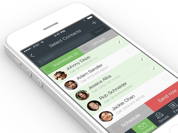 Contacts #user #7 #ux #contacts #address #design #application #interface #book #ui #experience #iphone #app #ios