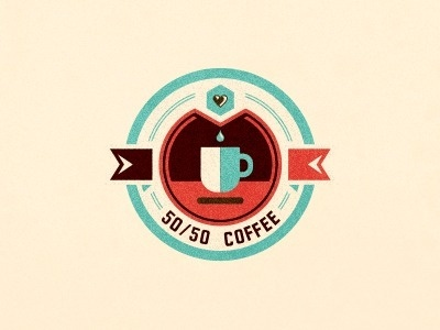 50_50_coffee_4 #heart #branding #design #emblem #coffee #logo #organic #ecuador