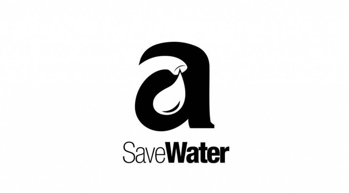 Water Drop Logo #b&w #negative #design #space #logo