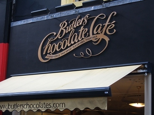 Beautiful Butlers Chocolate Café Typography - Typeverything.com #signage #type
